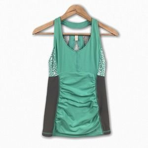 Lucy Perfect Core Halter Back Tank Colorblock Top